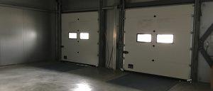 Складское помещение для разгрузки машин